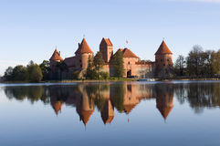 Island castle in Trakai Stock Photos