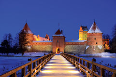 Island Castle in Trakai Royalty Free Stock Images