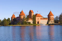 Island castle in Trakai. Lithuania Stock Photography