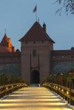 Island Castle in Trakai Stock Image