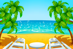 Island chair Royalty Free Stock Images
