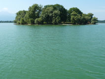 Island in Chiemsee lake Stock Photography