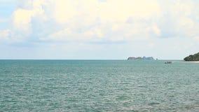 Island on Chumphon Sea, Thailand stock video