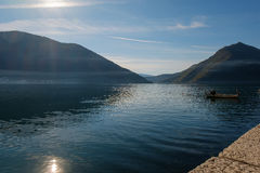 Island church in perast kotor bay Royalty Free Stock Photography
