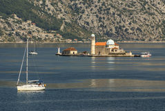 Island church in perast kotor bay montenegro Stock Image