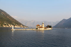 Island church in Perast, Montenegro Stock Photography