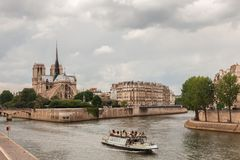 Island Cite with Notre Dame de Paris, Paris Royalty Free Stock Photos