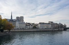 The island Cite in Paris Royalty Free Stock Images