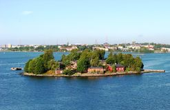 An island close to Helsinki, Finland Royalty Free Stock Photo