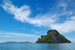 The island and cloudscape near Phi Phi island Stock Images