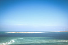 Island at the coast of the Bazaruto Islands Stock Image