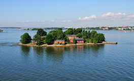 Island on the Coast of Helsinki, Finland Royalty Free Stock Photography