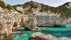 Island Coast, Limestone Cliffs Royalty Free Stock Photography