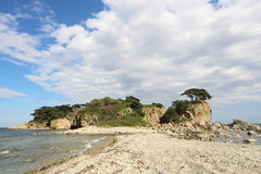 The island. On the coast of the sea Stock Images