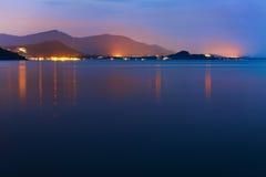 Island Coast Sunset Sea, Beautiful Nature. Tropical Seascape, Co Royalty Free Stock Image