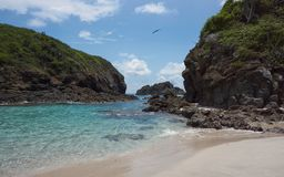 Island Cocinas`s Beach of Punta Perula royalty free stock photo