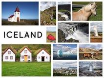 Island collagevykort royaltyfria foton