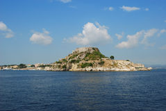 Island,corfu. View on island,corfu,with a blue sky and sea Stock Photography