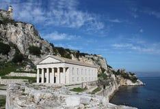 Island of Corfu. The old church of `St. George` on the Island of Corfu Royalty Free Stock Photo