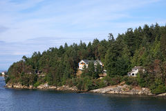 Island cottages Royalty Free Stock Image