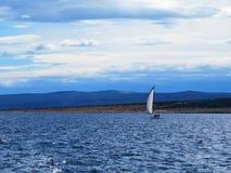 Sailing on Nord Adriatic sea stock photos