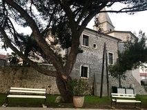Old town Osor stone history building and church royalty free stock images