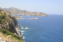 Island Crete coast. Sea and mountains Royalty Free Stock Photo