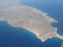 The island of Cyprus from a height Royalty Free Stock Image