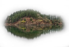 Island at the dam Royalty Free Stock Photography