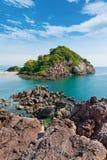 Island on daylight summer season Stock Photos