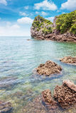 Island on daylight Royalty Free Stock Photos