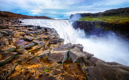 Island Detifoss vattenfall Arkivbild