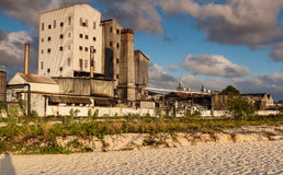 Island Distillery. Barbados distillery located on the beach royalty free stock photos