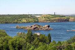 Island on the Dnieper Stock Photo