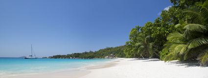 The island of dreams. Anse Lazio. Royalty Free Stock Photo