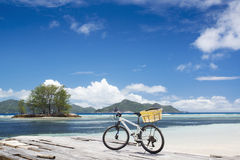 The island of dreams. Bicycle on moorage. Stock Photography