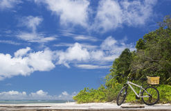 The island of dreams. Bicycle on moorage. Royalty Free Stock Photos