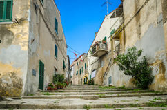 Island of Elba, alley in Sant'Ilario Royalty Free Stock Photography