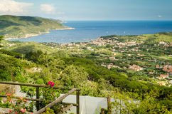Island of Elba, bay of Marina di Campo Royalty Free Stock Photography