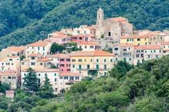 Island of Elba, Poggio. View from Marciana stock photo