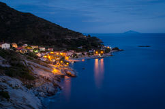 Island of Elba, Pomonte. (and Island of Montecristo in the background stock images