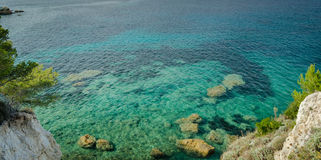 Island of Elba, sea and rocks Stock Photography
