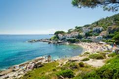 Island of Elba, Seccheto. Island of Elba, village of Seccheto and beach royalty free stock image