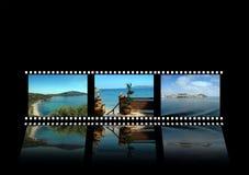 Island Ellba. Simulation of a film with dototografie island of Elba Royalty Free Stock Photo
