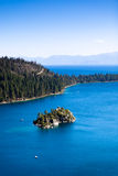 Island in the Emerald Bay Royalty Free Stock Photos