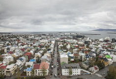 Island en sikt av Reykjavik Arkivbild