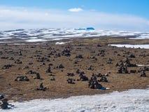 Island fält av stenar Royaltyfria Bilder