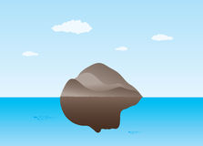 Island with face Royalty Free Stock Photo