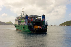 An island ferry arriving at admiralty bay, bequia Royalty Free Stock Image
