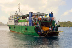 An island ferry arriving at admiralty bay, bequia Royalty Free Stock Photo